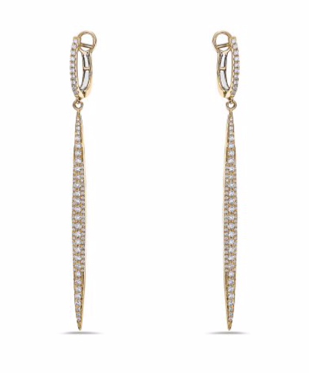 Diamond Stiletto Dangle Earrings