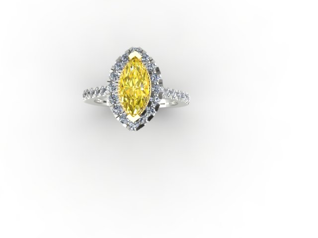 Marquise Yellow Diamond Ring