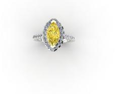 Marquise Yellow Diamond Ring
