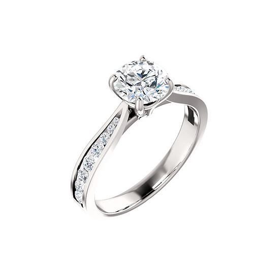 Diamond Channel Ring Setting