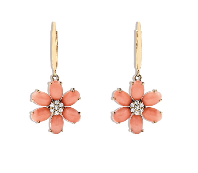 Coral Diamond Earrings