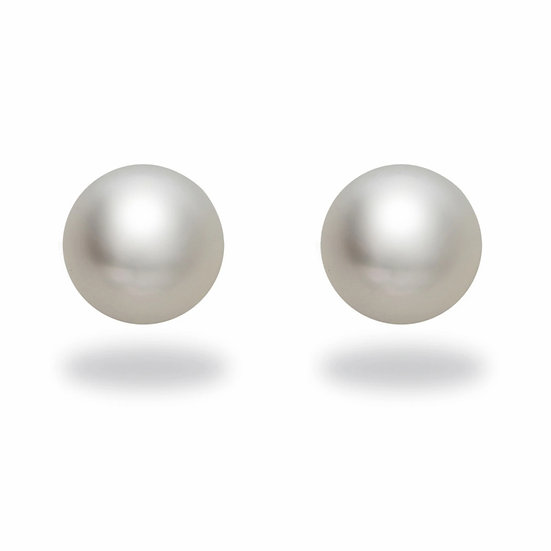 White South Sea Pearl Studs