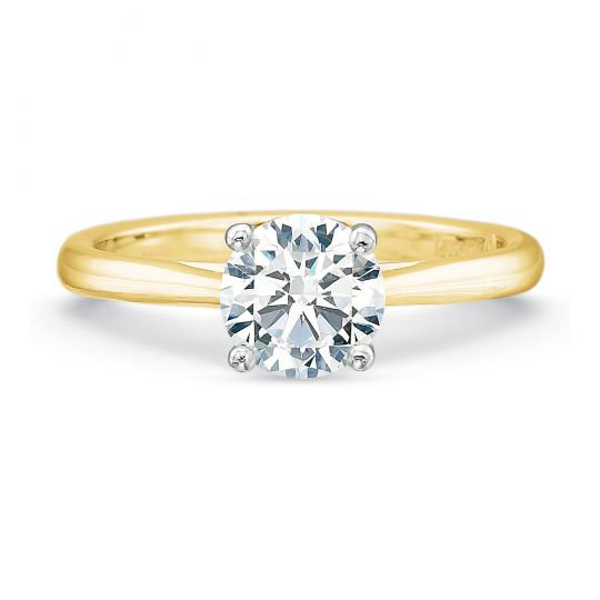 Valentina Round Solitaire Engagement Ring Setting
