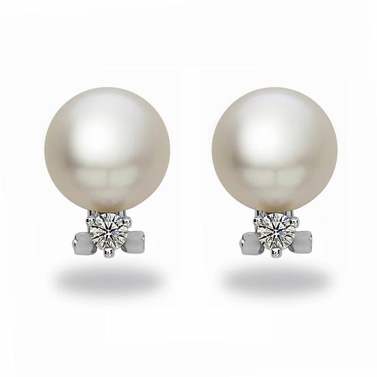 Diamond White South Sea Earrings