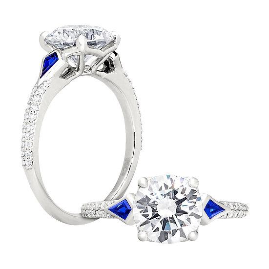 Eva Sapphire Engagement Ring Setting