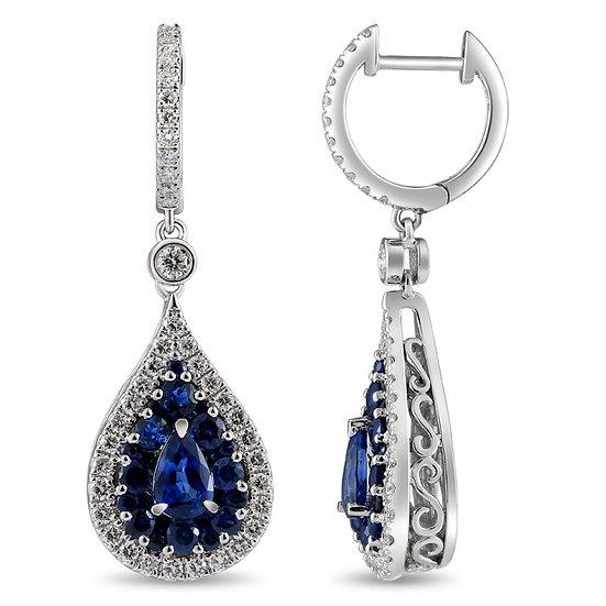 Sapphire Diamond Earrings