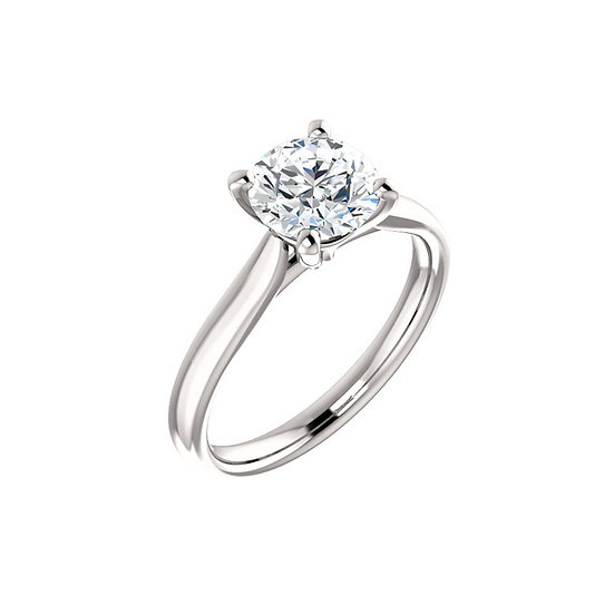 Four Prong Solitaire Engagement Ring Setting
