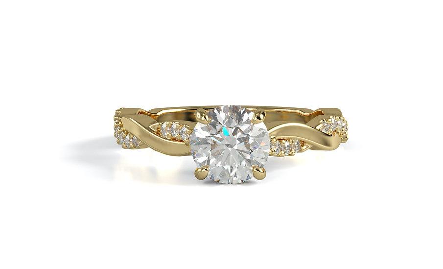 Rosa Infinity Diamond Engagement Ring