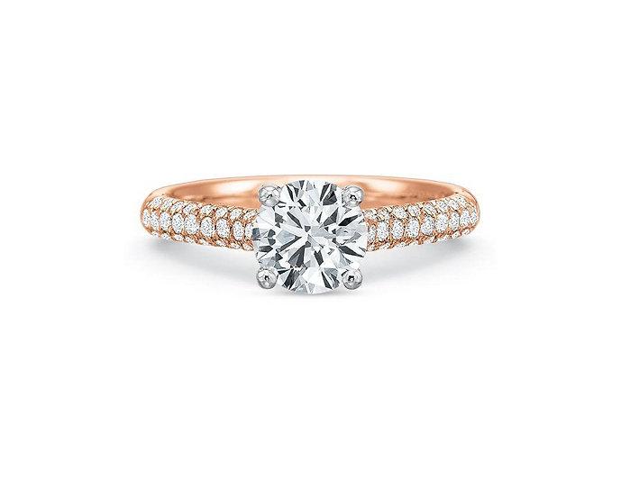 Vanessa Pave Diamond Engagement Ring