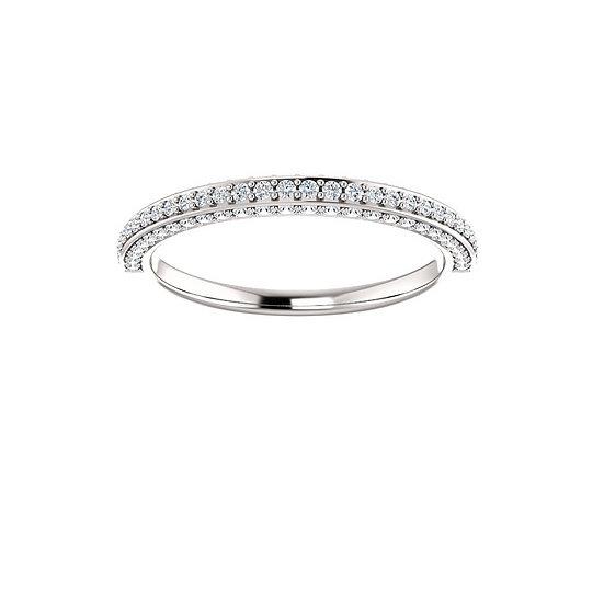 Diamond Three Sided Wedding Ring