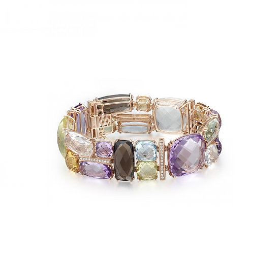 Gemstone Diamond Bracelet