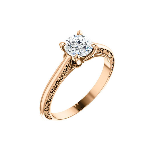 Rose Gold Solitaire Engagement Ring Setting