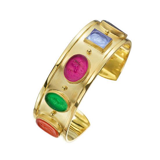 Venetian glass gold bangle