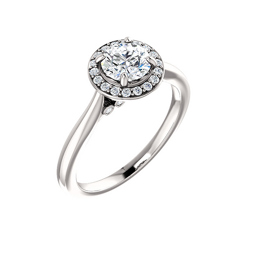 Solitaire Halo Diamond Engagement Ring Setting