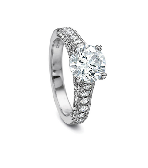 Diamond Detailed Gallery Engagement Ring Setting