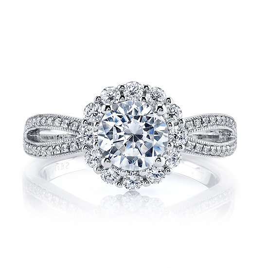 Infinity Allure Halo Engagement Ring