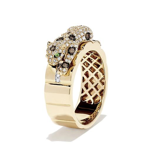 Diamond Panther Ring