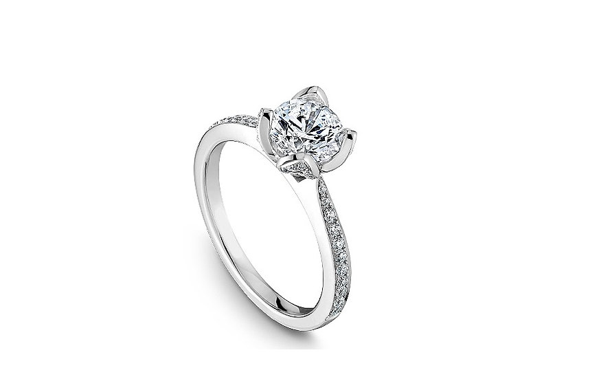 Diamond Floral Engagement Ring Setting