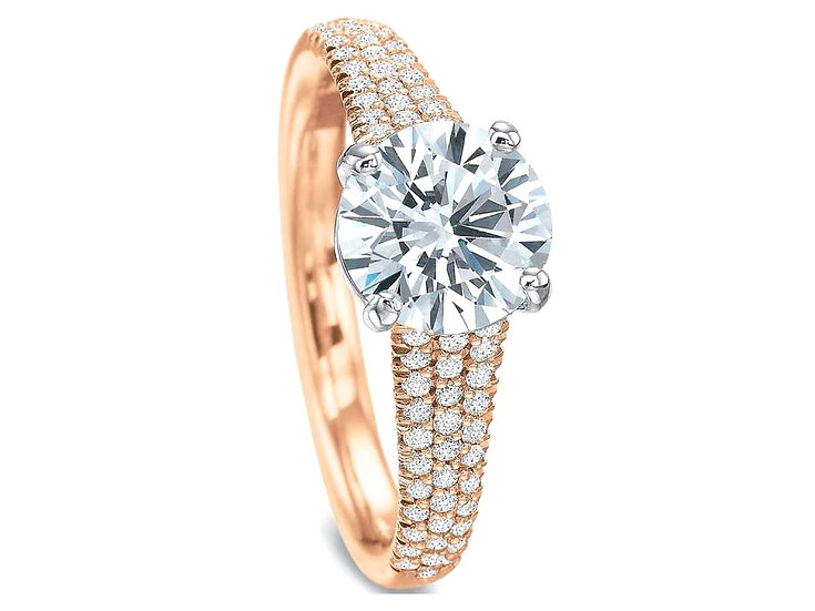Pave Engagement Ring Setting