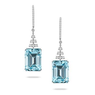 Blue topaz diamond earrings