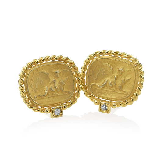 Roma Gold Coin Earrings