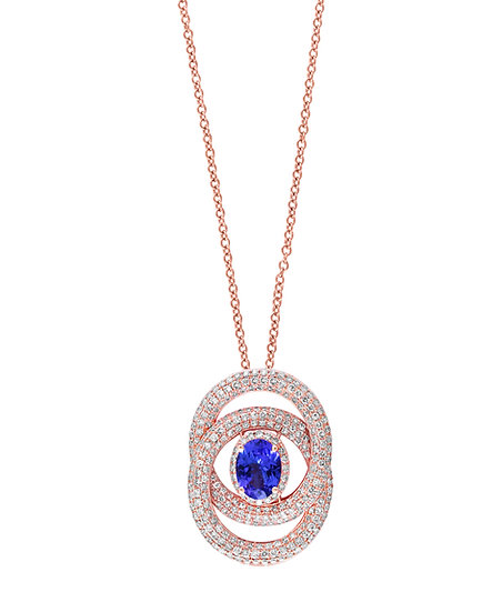 Tanzanite Diamond Necklace