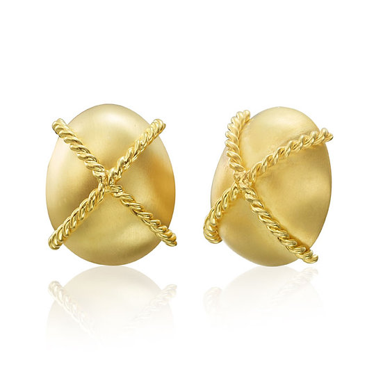 Gold Twist Rope Earrings