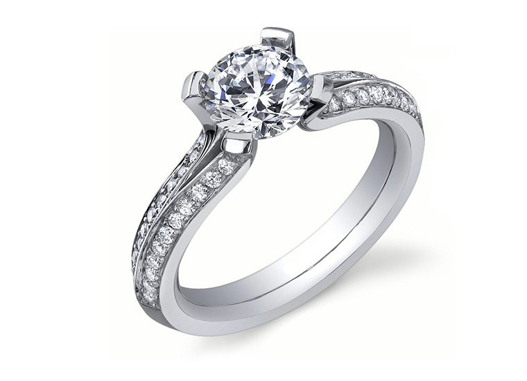 Split Band Engagement Ring Setting