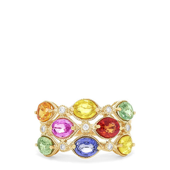 Watercolours gemstone ring