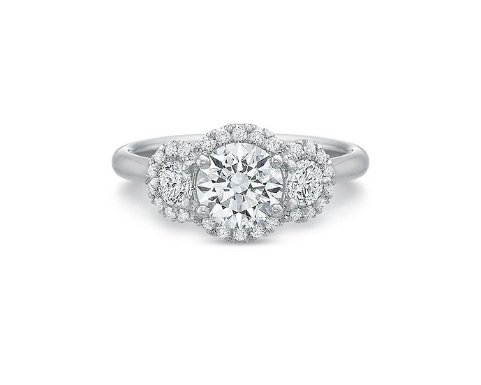 Desiree Three Stone Halo