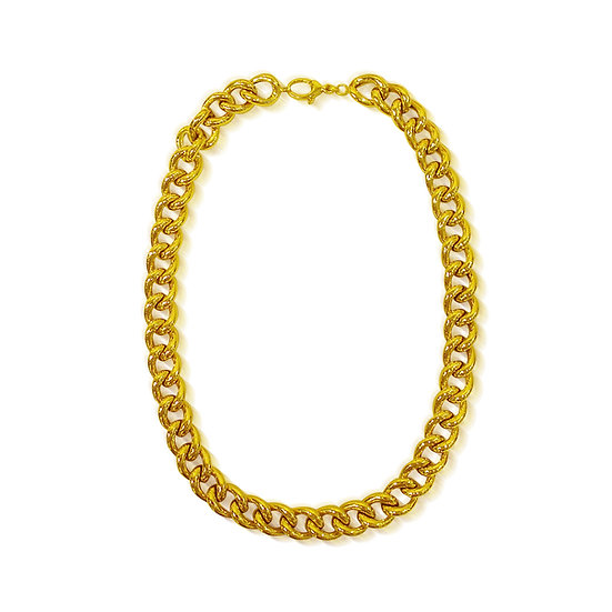 Gold Anchor Link Necklace