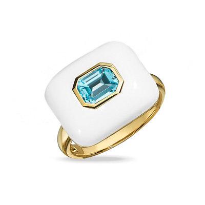 Blue Topaz Agate Ring