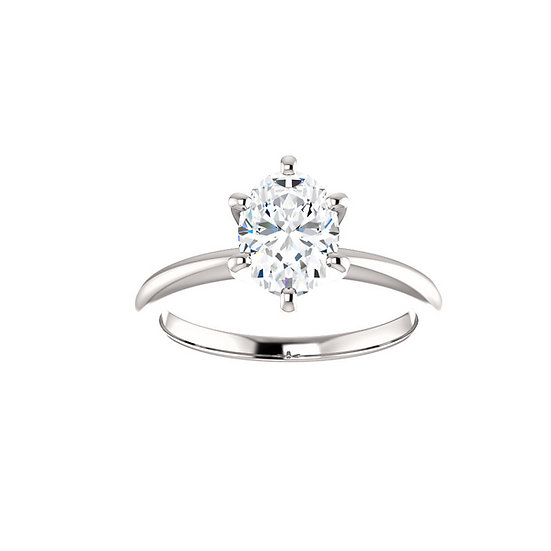 Oval Diamond Solitaire Engagement Ring Setting