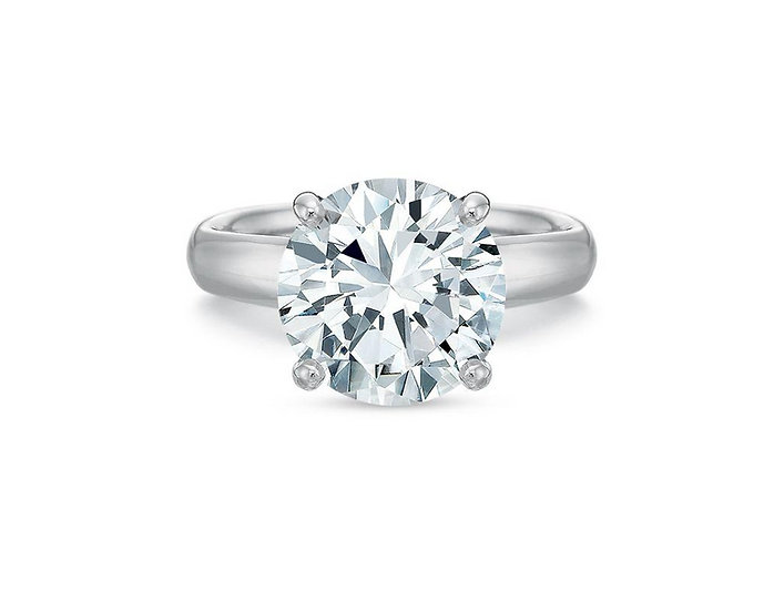 Chevron Gallery Solitaire Engagement Ring