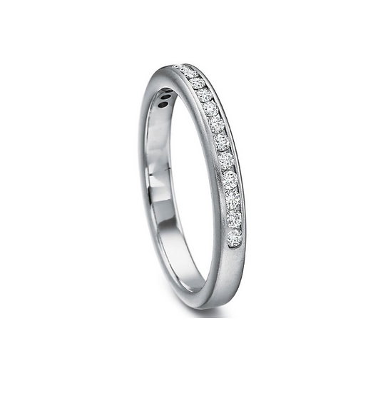 Round Diamond Channel Set Band