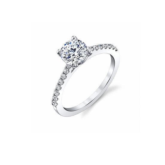 Diamond Shank Engagement Ring 0.55cttw