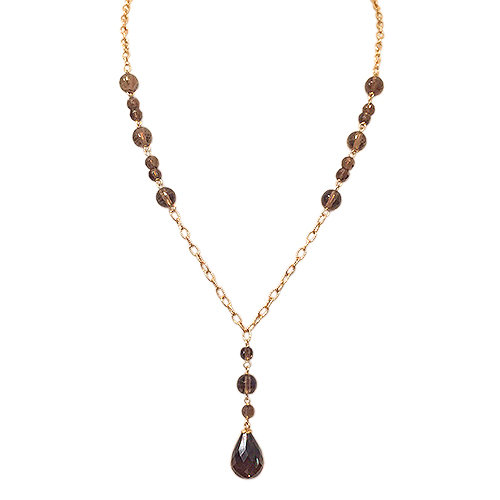 Smokey Topaz Briolette Necklace
