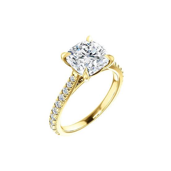 Cushion Diamond Engagement Ring Setting