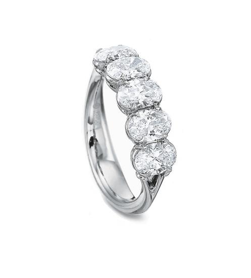 Five Stone Oval Diamond Band