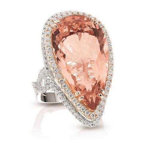 Pear Shape Morganite Ring