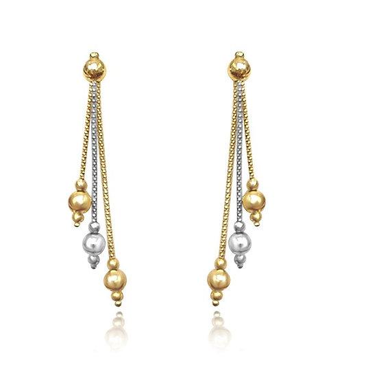 Gold Dangle Earrings.