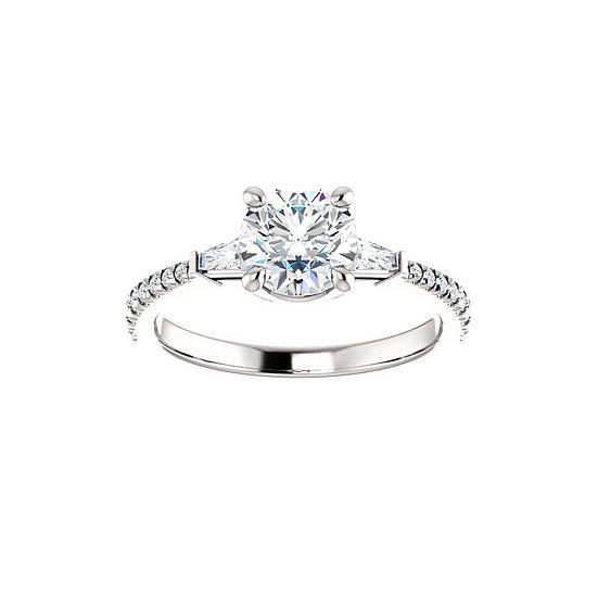 Round Diamond Engagement Ring Setting
