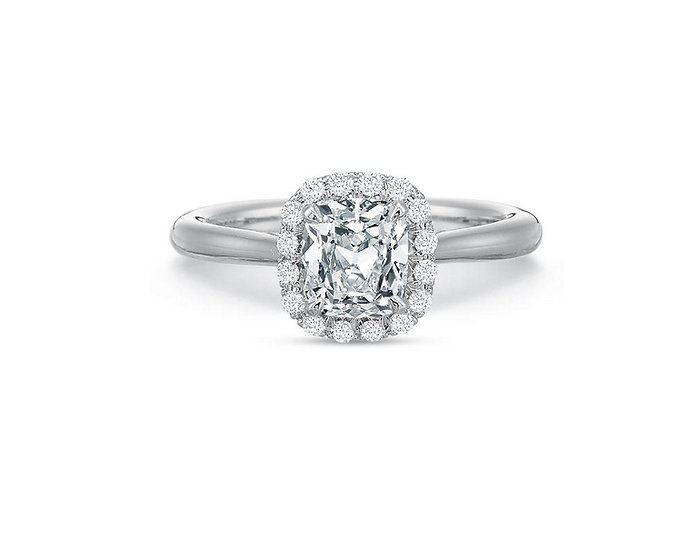 Olivia Cushion Halo Engagement Ring