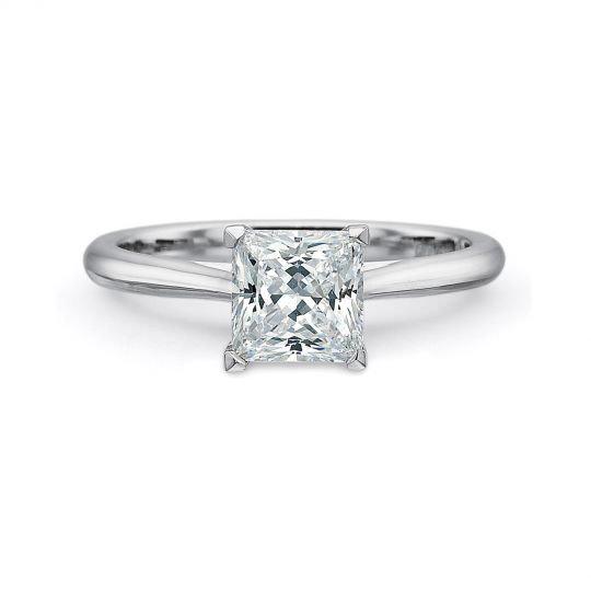 Valentina Princess Cut Diamond Engagement Ring Setting