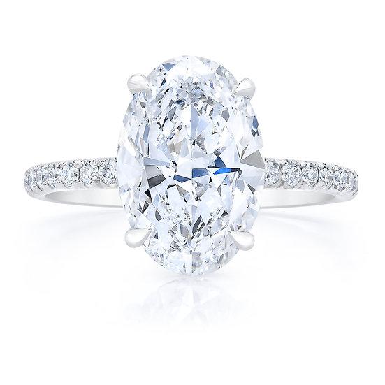 Desiree Oval Diamond Engagement Ring