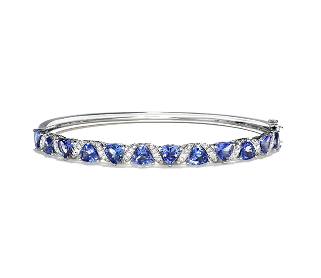 Tanzanite Diamond Bangle