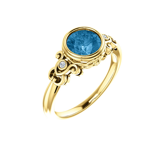 Blue Topaz Vintage Ring