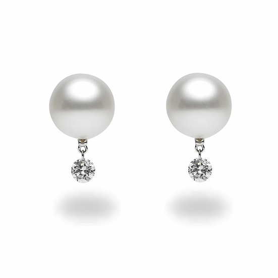 Dancing Diamond White South Sea Earrings