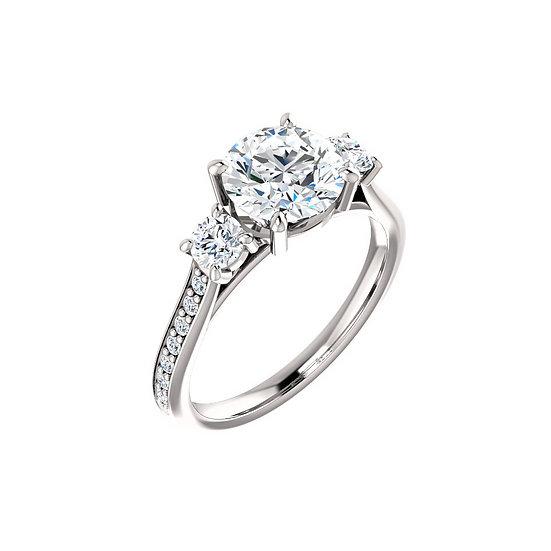 Three Stone Diamond Ring Setting