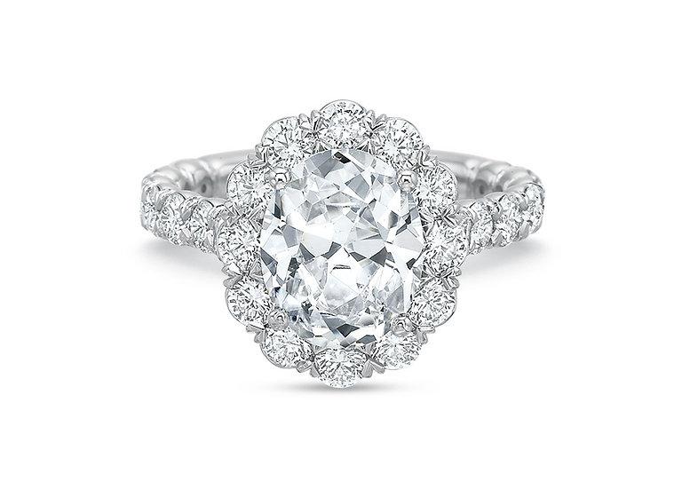 Blossom Halo Diamond Engagement Ring Setting